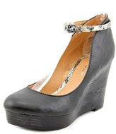 Report Azaria Womens 8.5 Faux Leather Wedges Heels Shoes