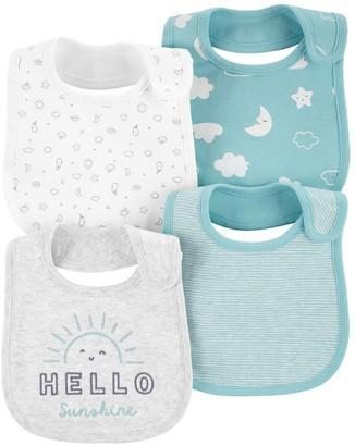 Carter's Baby Boy 4-Pack Sun Teething Bibs