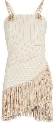 Just BEE Queen Chairo Fringed Cotton-Linen Dress