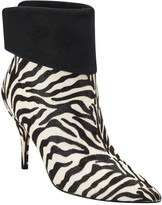 Marc Fisher Fifily Pointed Toe Genuine Calf Hair Bootie