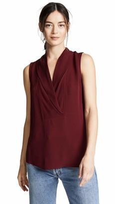 Theory Women's Sleeveless Shawl Collar Shell