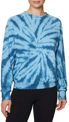 Betsey Johnson Tie-Dyed Cotton-Blend Sweatshirt