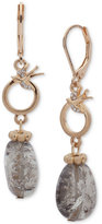 lonna & lilly Gold-Tone Pavé & Gray Stone Drop Earrings