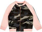 River Island Mini girls pink camo bomber jacket