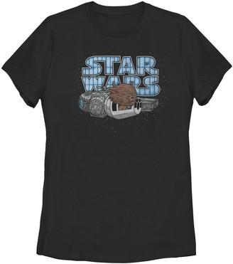Star Wars Juniors' Kawaii Chewbacca In Flight Portrait Logo Tee