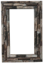 Wood Fossil Mirror