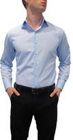 Nigel Lincoln Twill Fine Stripe Slim Fit Shirt With Cuff Trim