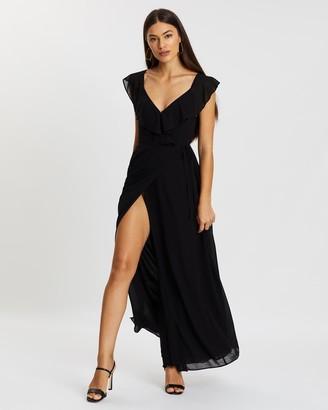 Atmos & Here Flutter Sleeve Maxi Dress
