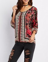 Charlotte Russe Floral Print Tunic Top