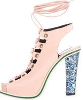 Rodarte Lace-Up Platform Sandals