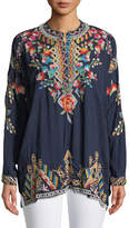Johnny Was Jessa Embroidered Georgette Tunic