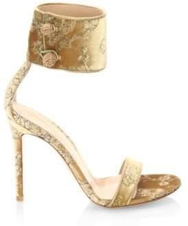Gianvito Rossi Velvet Ankle-Strap Sandals