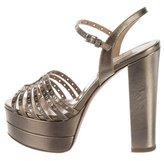 Valentino Leather Platform Sandals