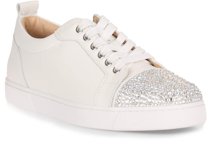 Christian Louboutin Louis Strass white leather sneaker