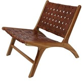 Mancheer Leather Strap Side Chair Union Rustic Upholstery Color: Antique Brown