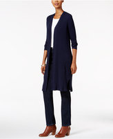 Style&Co. Style & Co. Petite Striped Duster Cardigan, Only at Macy's