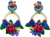Ranjana Khan Multi Color Flower Earrings