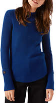 Jigsaw Cashmere Purser Button Cuff Jumper