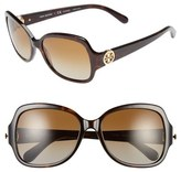 Tory Burch 57mm Polarized Butterfly Sunglasses