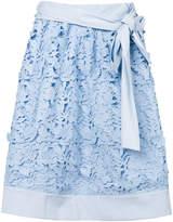 Steffen Schraut floral embroidered skirt