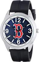 Game Time Men's MLB-VAR-BOS Varsity Analog Display Japanese Quartz Black Watch