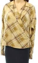 Lauren Ralph Lauren Womens Long Sleeve Wrap Wrap Top