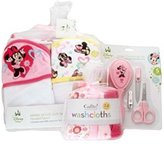 Disney Baby Girl Minnie Mouse Bath Gift Set with Towels, washcloths and Grooming Kit