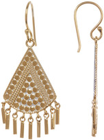 Anna Beck 18K Gold Plated Sterling Silver Textured Triangle Fringe Drop Earrings