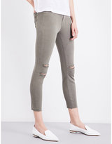 J Brand Alana distressed skinny high-rise jeans
