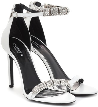 Calvin Klein Camelle embellished leather sandals