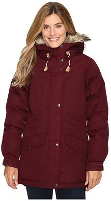 Fjallraven Singi Down Jacket (Dark Garnet) Women's Coat
