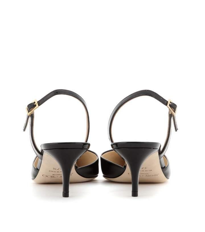 Jimmy Choo Tide patent-leather kitten-heel sling-backs