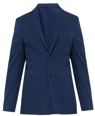 Officine Generale Lightest Single Breasted Cotton Blend Jacket - Mens - Indigo