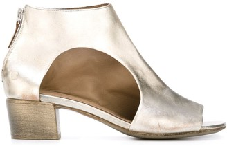 Marsèll Cut-Out Metallic Ankle Sandals