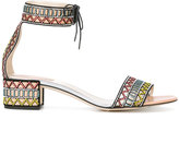 Rene Caovilla embellished sandals - women - Leather/Polyester - 36.5