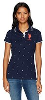 U.S. Polo Assn. Women's Printed Pique Polo Shirt