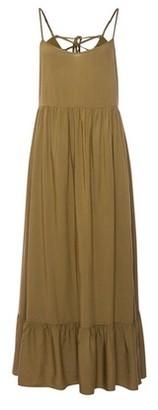 Dorothy Perkins Womens Khaki Strappy Tiered Midi Dress, Khaki