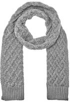 Michael Kors Men's Cable Knit Scarf Heather Grey