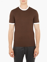 Neil Barrett Brown Techno Knit T-shirt