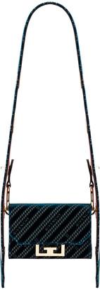 Givenchy Nano Eden Lasered Velvet Bag in Oil Blue | FWRD