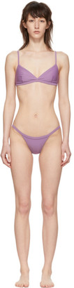 Matteau Purple Tri Crop Top Petite Brief Bikini