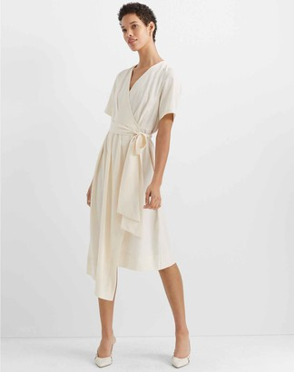 Club Monaco Asymmetrical Wrap Dress