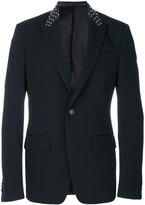 Givenchy studded collar blazer - men - Cotton/Calf Leather/Cupro/Wool - 46