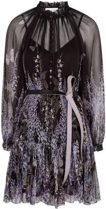 Zimmermann Botanica Lantern floral-print silk-chiffon mini dress