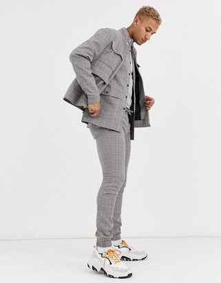 Asos DESIGN Two-piece overshirt in smart check