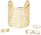 Charlotte Russe Filigree Cuff Bracelet & Rings Set