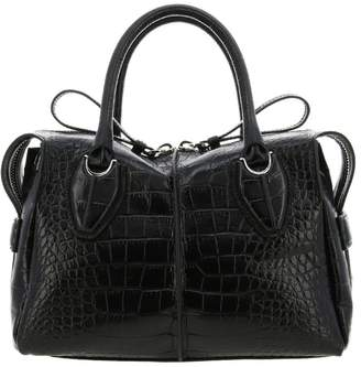 Tod's Small D Bag In Crocodile Print Leather With Shoulder Strap