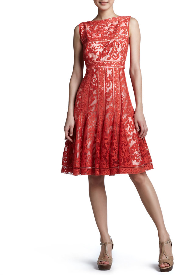 Tadashi Shoji Fit-and-Flare Lace Cocktail Dress
