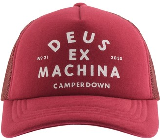 Deus Ex Machina Camperdown Logo Trucker Cap Red