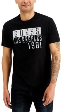 GUESS Men's Metallic Puff Logo Graphic T-Shirt